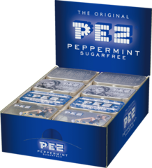 PEZ Mint - nostalgic tin display